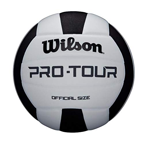 Wilson Unisex-Adult PRO TOUR VB BLKWH Volleyball, BLACK/WHITE, OFFICIAL