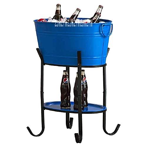 Muebles para el hogar Cubo de hielo grande 88880 Barril de hielo ovalado Cubo de hielo de metal de alta capacidad Barbacoa Vino Champagne Cerveza Cubo de hielo grande KTV Suministros para clubes co