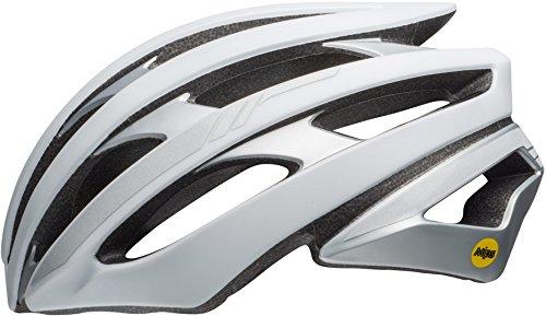 BELL Erwachsene Stratus MIPS Fahrradhelm, Matte White/Silver Reflective, M
