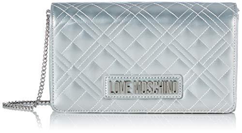 Love Moschino JC4261PP0BKA0, Borsa A Spalla Donna, Argento, Normale