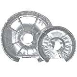 Tribello Electric Stove Burner Cover   Electric Stove Burner Drip Pans, Disposable Foil Stove Liners - Set of 48, 24 Large & 24 Small - Thick Durable Quality (For Electric Oven)