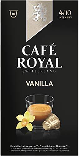 Café Royal Vanilla Flavoured Edition, 50 Nespresso kompatible Kapseln, 5er Pack (5 x 10 Kaffeekapseln)