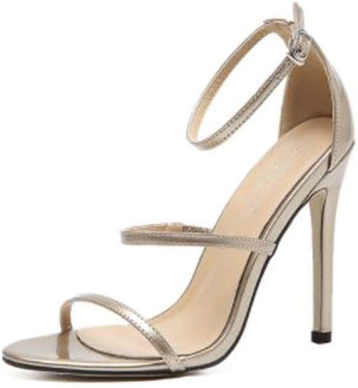COLOV Women's Elegant high Heel Sandals Fashion Classic high Heels