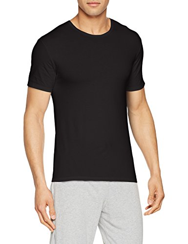 Abanderado ASA040W, Camiseta X-Temp con Manga corta para Hombre, Negro, Medium (Tamaño del fabricante:M/48)