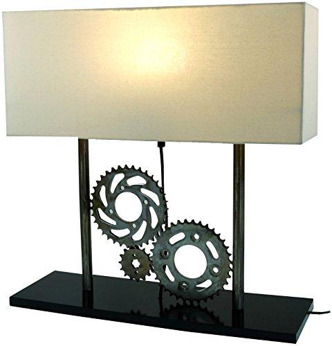 Guru-Shop Tischlampe/Tischleuchte, Industrial Style, Upcycling Lichtobjekt aus Altmetall - Modell Pedalor, 51x50x16,5 cm, Tischlampen Industrial Style
