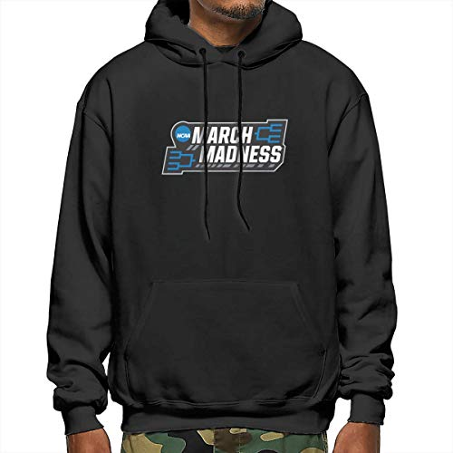 March Madness Sad College Basketball Tournament 2020 Men's Loose Pocket Long Sleeve Hooded Sweatshirt Pullover Black