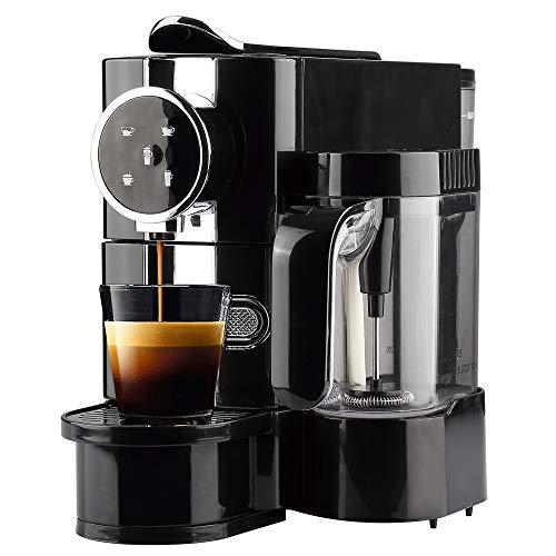Aureo All-in-One Kaffeekapselmaschine mit Milchaufschäumer - für Kapseln I 19 bar - 650ml Wassertank 1145 Watt I Kapselmaschine mit Kapsel Sammelbehälter