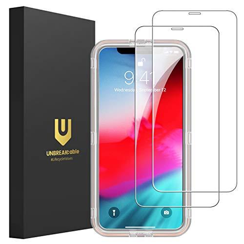 UNBREAKcable 9H-Härte iPhone 11 Pro/XS/X Panzerglas [2er Pack] Panzerglasfolie (5.8 Zoll), 2.5D Double Defense Series Displayschutzfolie, Kratzfest, Anti-Fingerprint, Blasenfrei und Kofferfreundlich