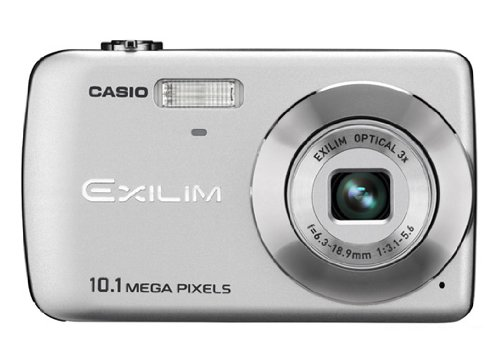 Casio EXILIM EX-Z33 SR Digitalkamera (10 Megapixel, 3-Fach Opt. Zoom, 6,4 cm (2,5 Zoll) Display) Silber