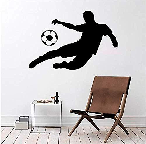 Wandaufkleber Vinyl Aufkleber Sport Spiele Training Fußball Fußball Spieler Dekoration Kinder Jungen Zimmer Fußball Club Dekoration Wandbild Kunst Vinyl Bewegung 58X86 Cm