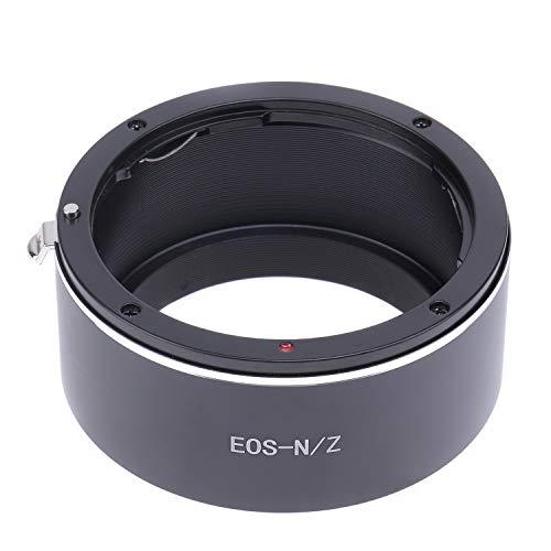 Hersmay EOS-NIKKOR Z - Adaptador de montura de objetivo compatible con Canon EOS (EF, EF-S) SLR para cámara Nikon Z Z5 Z6 Z7 Z50 sin espejo