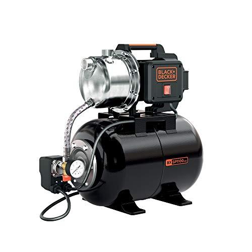 Black+Decker BXGP1100XBE Bomba Autoaspirante con Caldera para Aguas Limpias (1.100 W, Caudal max. 4.600 l/h, Prevalencia max. 45 m)