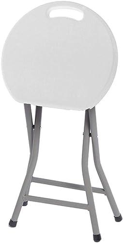 DFMD Chaises Pliantes extérieures, Couleurs de ménage Rondes en Plastique Vertes et décontractées, Tabouret, Camping, Pique-Nique, Chaise de Balcon, Rouge