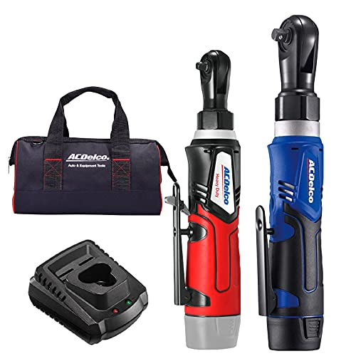 ACDelco G12 Series 2-Tool Combo Kit- 1/4' & 3/8' Cordless Ratchet Wrench, ARW1209-K9