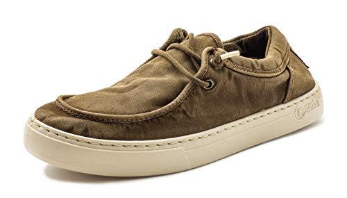 Natural World Eco 6605E Old Deva – Mocasines Hombre – Algodón 100% Orgánico Natural – Calzado Hombre Cómodos y Duraderos – Zapatillas Casual Hombre Suela de Goma