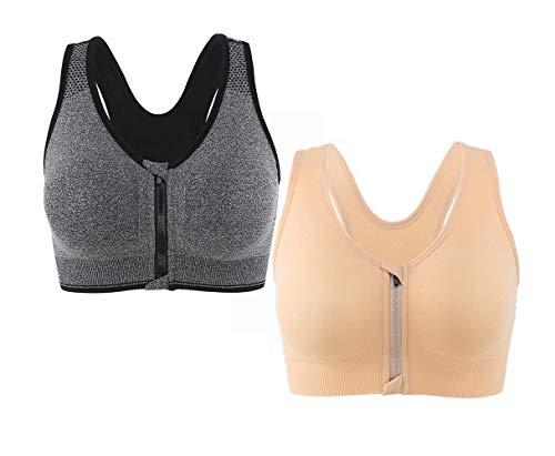 CLOUSPO Short de Gym 2 en 1 /à s/échage Rapide Respirant avec Poche arri/ère zipp/ée pour Compression int/érieure