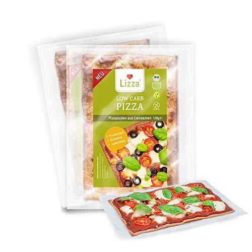 Lizza Low Carb Pizzaböden Original | Bio. Glutenfrei. Vegan. Kohlenhydratarm. Proteinreich. Ballaststoffreich | Geeignet für Vegane, Glutenfreie und Keto Ernährung | 2 Pizzaböden