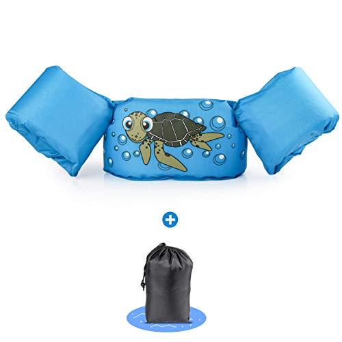 kacai Kinder Schwimmweste Einstellbar Schwimmen Jacke Jungen Mädchen von 2-6 Jahre 14-23kg Schwimmanfänger für Kleinkinder Schwimmen zu Lernen Schwimmhilfe