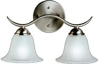 Kichler 6322NI Dover Bath 2-Light, Brushed Nickel