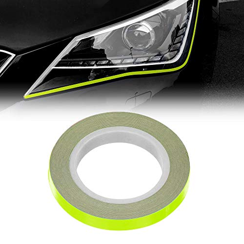 4R Quattroerre.it 10805 Stripes Strisce Adesive Eyeliner per Fari Auto, Giallo Fluo