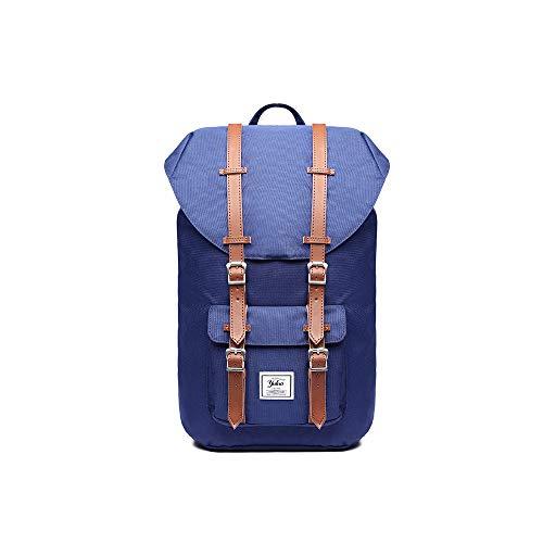 MINGZE Mochila, Laptop Backpack para Ordenador portátil de Lona, Maleta Grande para Escuela, Viajes o Senderismo (Azul)
