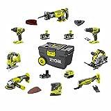 Pack RYOBI Combo 8 outils - 2 batteries 5.0Ah et 1 batterie 2.0Ah - 1 chargeur - R18CK8-35...