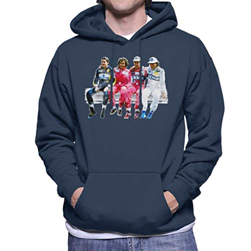 Motorsport Images Mansell Piquet Prost Senna Pitwall heren Hooded Sweatshirt