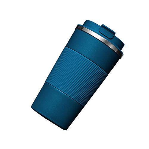 LAJIOJIO Botella isotérmica de acero inoxidable, 380 ml, para senderismo, fitness, bicicleta, escuela y oficina