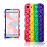 oqpa for iPhone 6 Plus/6S Plus Case Cartoon Kawaii Funny Cute Fun Silicone Design Cover for Girls Kids Boys Teen,Fashion Unique Cases Fidget Aesthetic Bubble Rainbow(for iPhone 6 Plus/6S Plus 5.5')