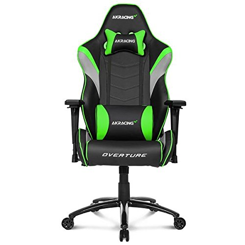 AKRacing Overture - AK-OVERTURE-GN - Silla Gaming, Color Negro/Verde