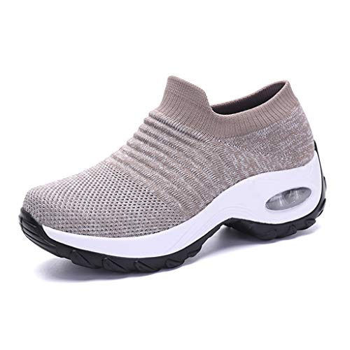 Zapatos de senderismo para mujer Calcetín Zapatillas de deporte – Malla Slip On Air Cushion Lady Girls Modern Jazz Dance Easy Zapatos de plataforma Mocasines, color, talla 38 2/3 EU