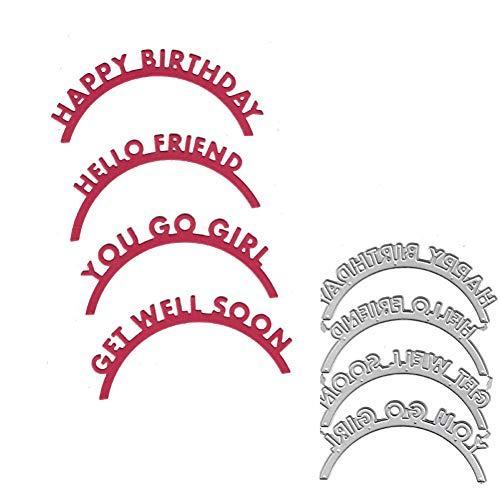 Pixiey Stansvorm van metaal, gestanste letters, alles goed voor verjaardag, voorhoofd, scrapbooking, sjabloon voor papieralbum, kaart, cadeau, decoratie, mes, nieuw voorhoofd