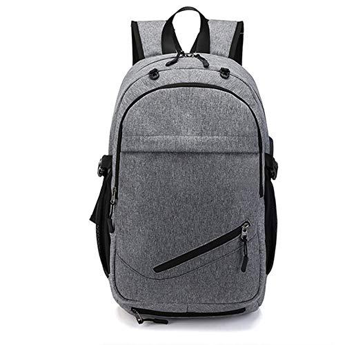 LUYIYI 充電旅行バッグ学生バッグサッカートレーニングバッグファッションバックパック (Color : Grey)