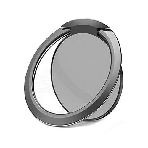 超薄型 リングホルダー バンカーリング 亜鉛合金製 落下防止 360度回転 ホールドリング スマホリング 車載ホルダー iPhone/Android多機種対応 (ダークグレー)
