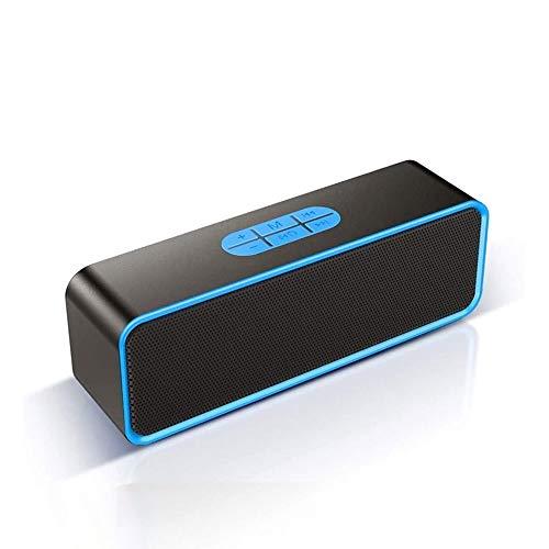 NCRD Altavoz, Altavoces de Bluetooth portátil, Sonido Ruidoso 360 ° HD Sonido Envolvente con Sonido estéreo Fuerte, para casa, Fiesta, al Aire Libre, Viajes, Piscina, Senderismo (Color : Blue)