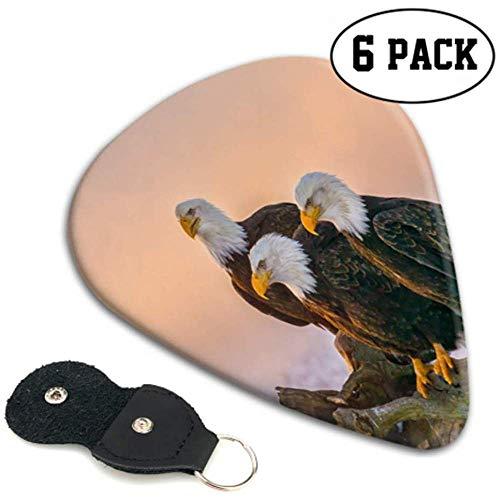 Three American Eagles Bald Perch On Art Púas de guitarra Guitar Pick...