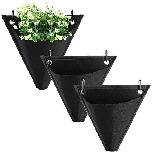 Benbor Pflanzen-Hängebeutel, 3/6 Stück, mit Haken, für drinnen und draußen, Garten, Blumenbehälter für Garten, Heimdekoration (6 Haken)