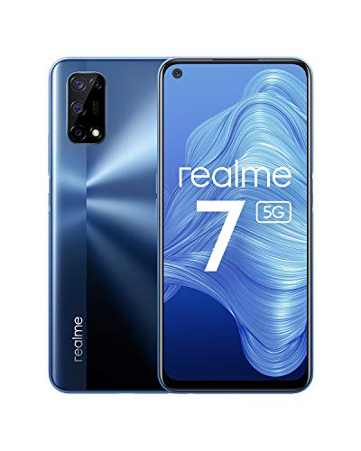 realme 7 5G - smartphone de 6.5, 6GB RAM + 128GB de ROM, 120Hz Ultra Smooth Display, 48MP Quad Camera, batería con 5000mAh y carga de 30W Dart Charge, Color Azul