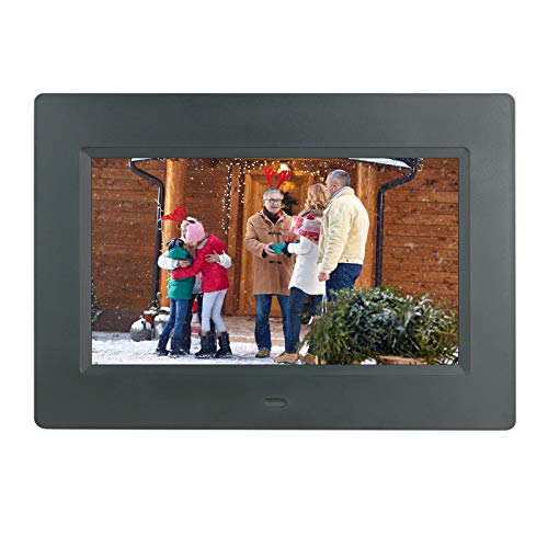 LaMi Digital Picture Frame 7 Inch Electronic Photo Frame &1024 x 600 High Resolution IPS Widescreen Display - Calendar/Clock Function, MP3/ Photo/Video Player with Remote Control, Support SD Card &USB Digital Frames Picture