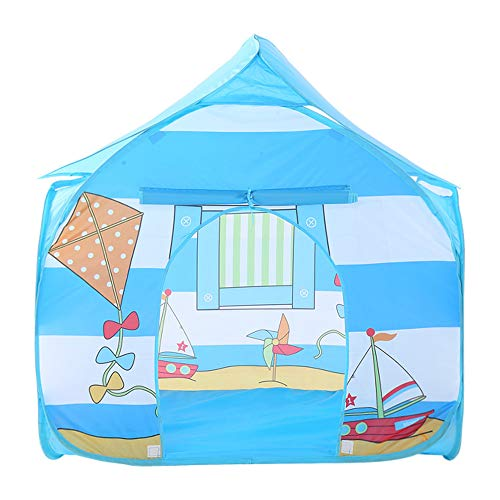 Best Bargain Sviper Kids Play Tunnels Kids Indoor Outdoor Foldable Play Tent Kite Pattern Blue Toys ...