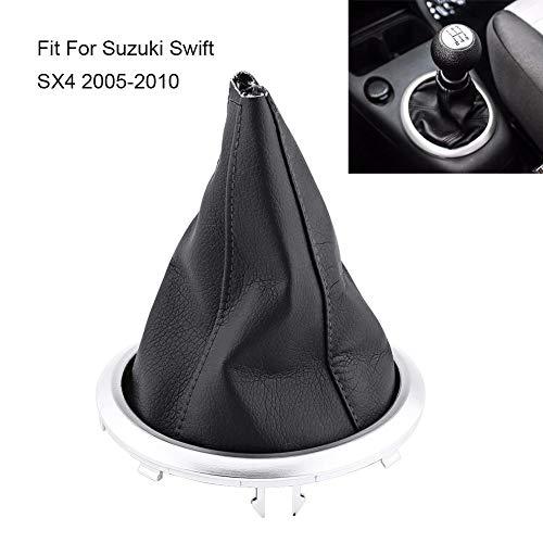 Für Swift SX4 2005-2010 Schaltsack, Schaltknauf Gamasche Boot Cover mit Kunstleder Linkslenker