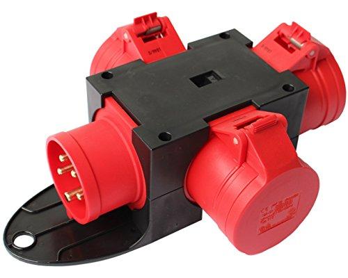 CEE Adapter Stromverteiler CEE 16A 400V - 3 x 16A Kraftstrom Starkstrom Verteiler