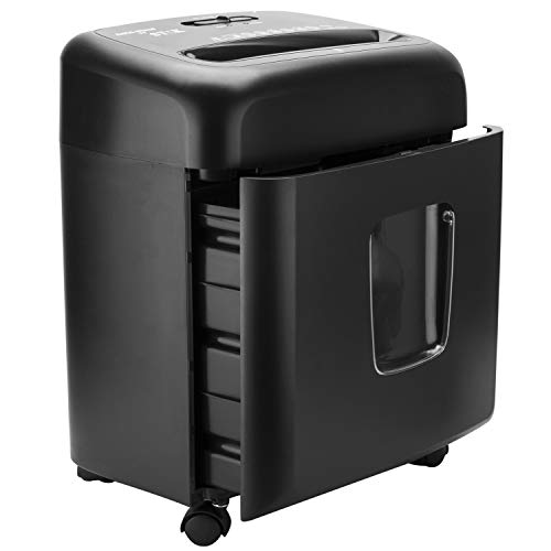 SToK 10 Sheet Cross Cut Paper Shredder 15 Liter Large Waste Bin Capacity with Credit/Debit Card Shredder (ST-40CC)