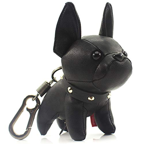 French Bulldog Keychains for Women, SALTY FISH Cute Keychain Accessories for Car Key Chain Ring Bag Charm,Birthday Gifts for Women Men Girls Mom Dad Kids Dog Lover (Black)