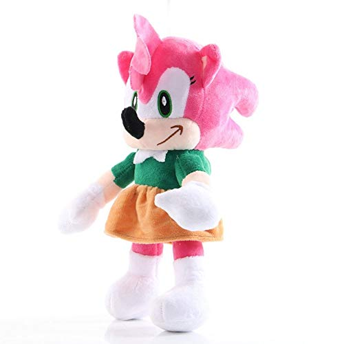 Darenbp Juguetes de Peluche 26cm Amy Rose Figura de la Felpa Juguetes Sonic The Hedgehog Anime Figuras Relleno Suave muñeca 3+ niños cumpleaños