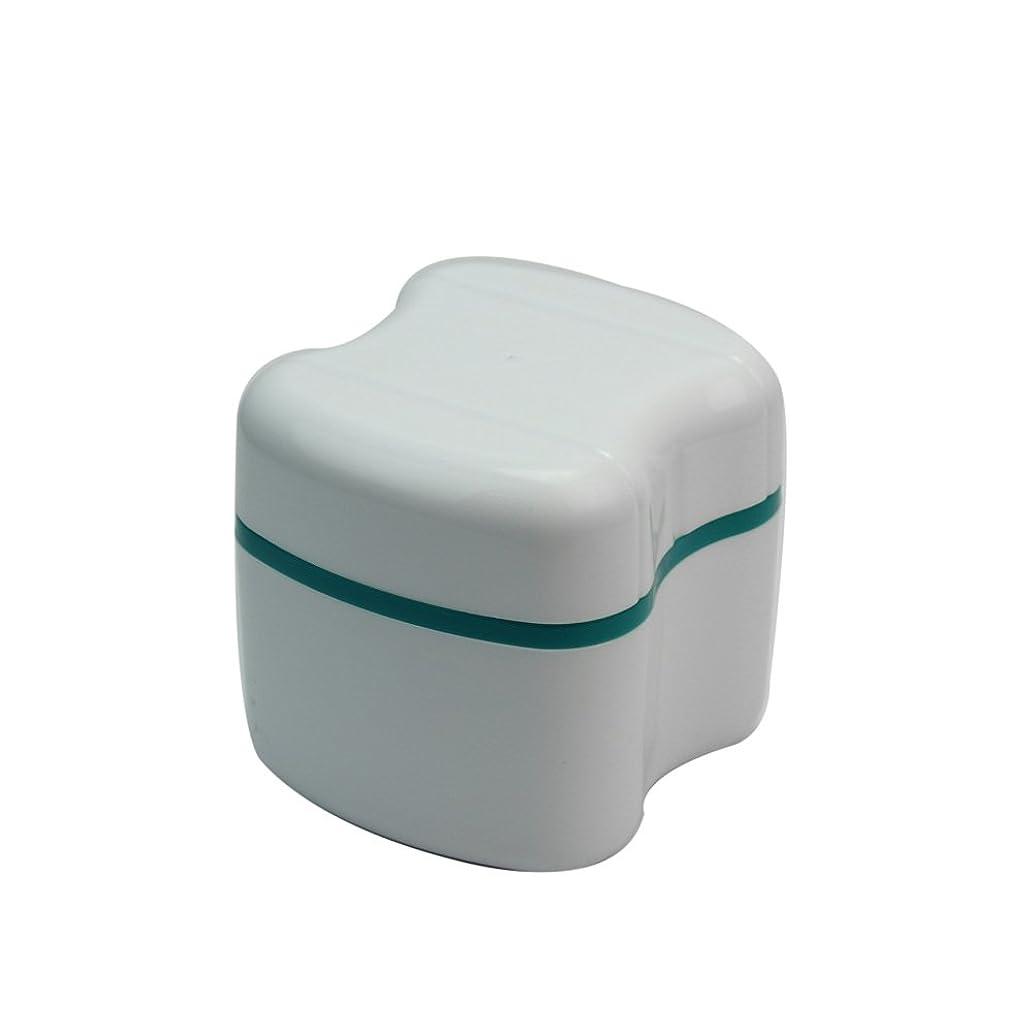 位置づける急襲製油所入れ歯ケース プラスチック製
