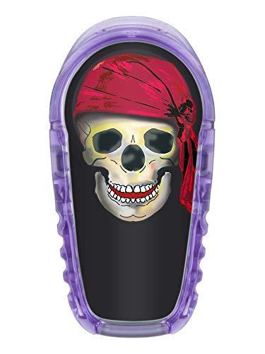 2x Totenkopf mit Mütze - Sticker Aufkleber für Dexcom G6 Transmitter Farbe schwarz
