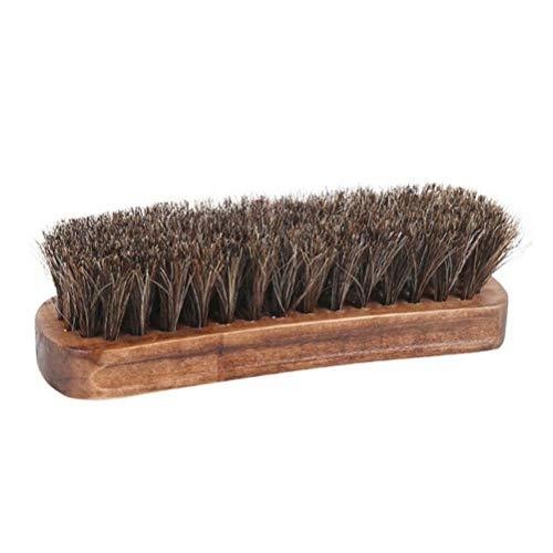 PIVOT Schuhbürste, Rosshaarbürste mit Holzgriff tragbar Schuhbürste Weiche Rosshaar-Reinigungsbürste zum Schuhe, Möbel, Auto, Zuhause