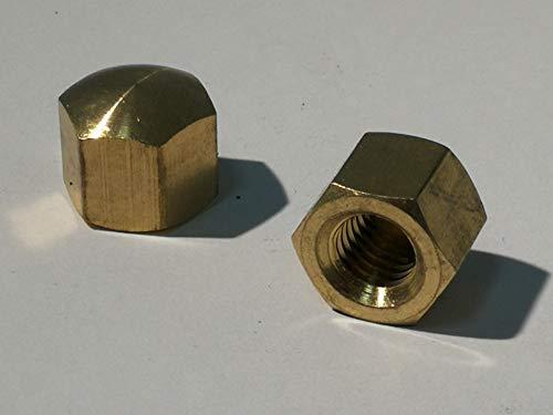 5 Stück Messing Hutmuttern - DIN 917 Material Messing (Messing, M6)