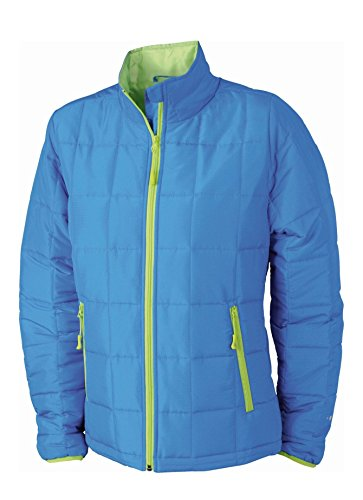2Store24 Ladies' Padded Light Weight Jacket in Aqua/Lime-Green Size: M